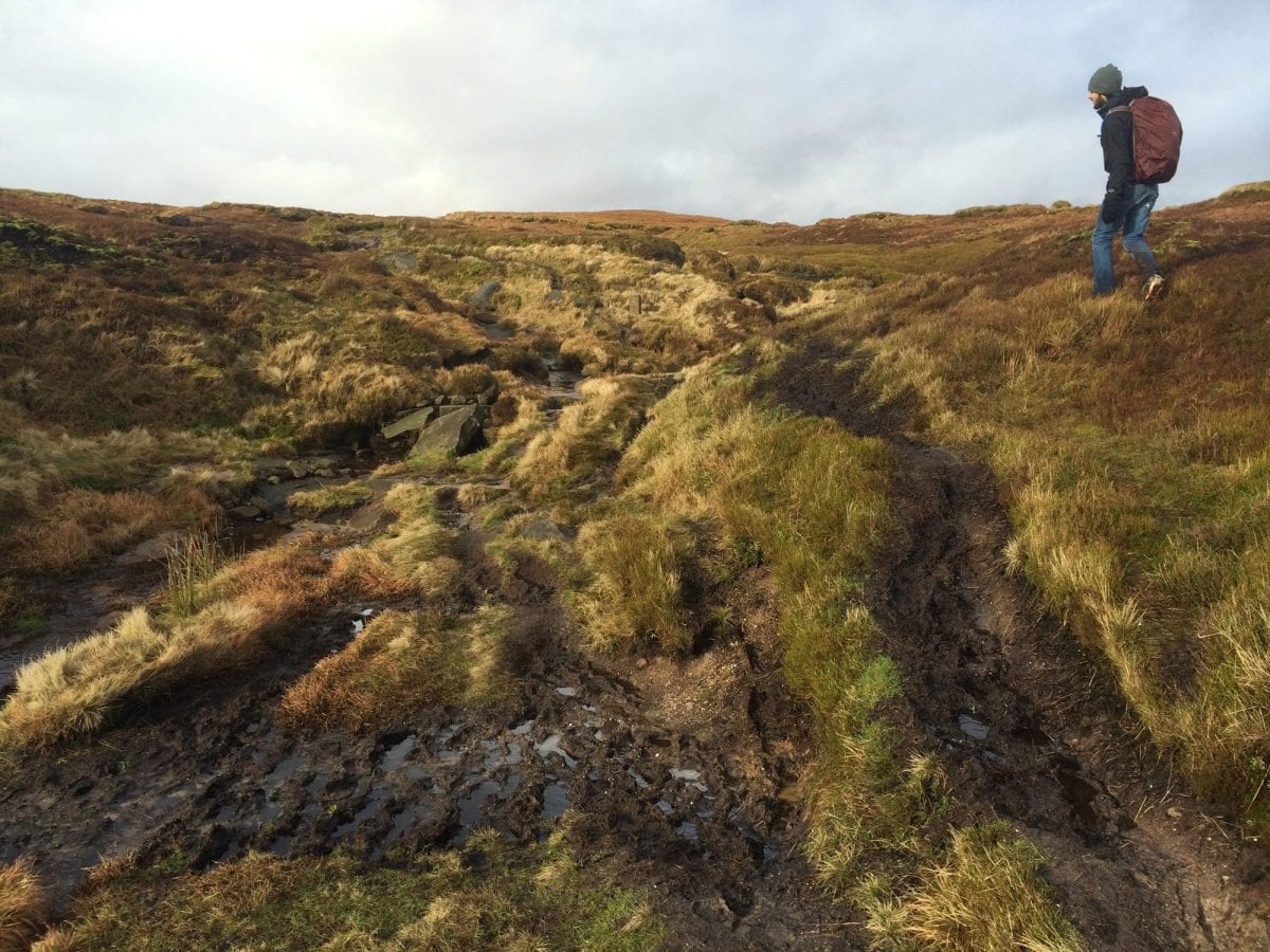 Peak District - trying to avoid the mud