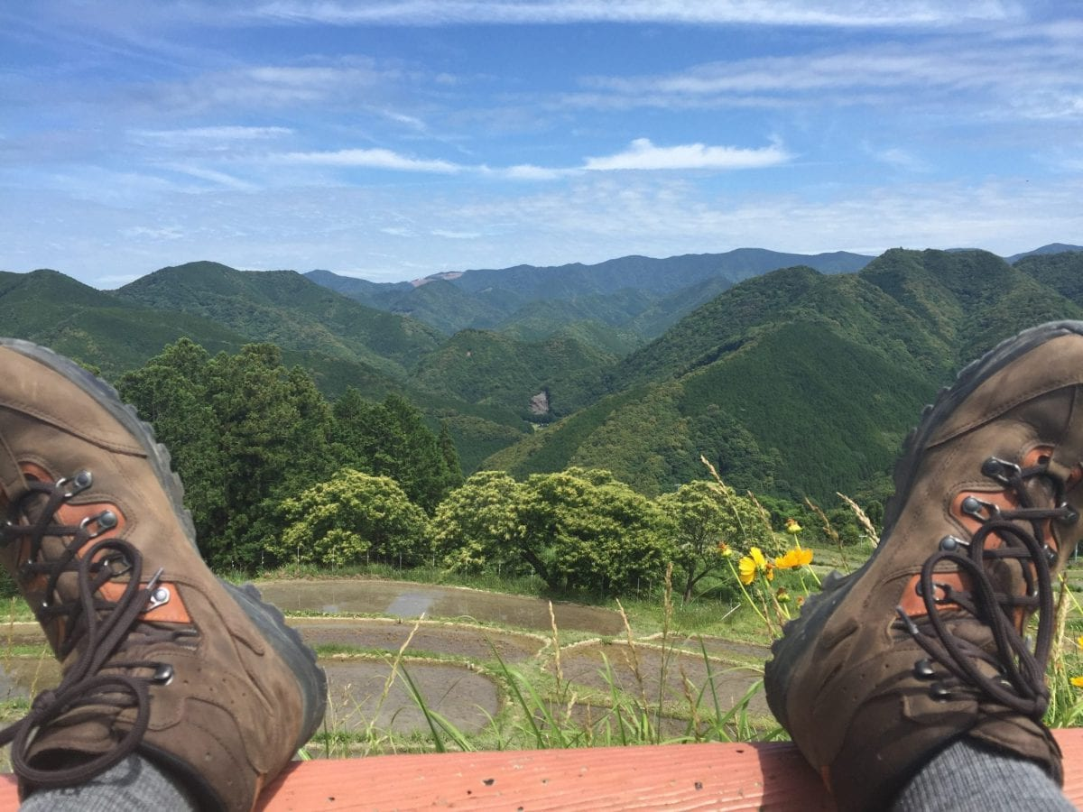 Kumano Kodo Lookout on Day 1