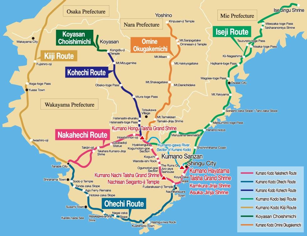 Kumano Kodo Routes by Shingu City Tourist Association