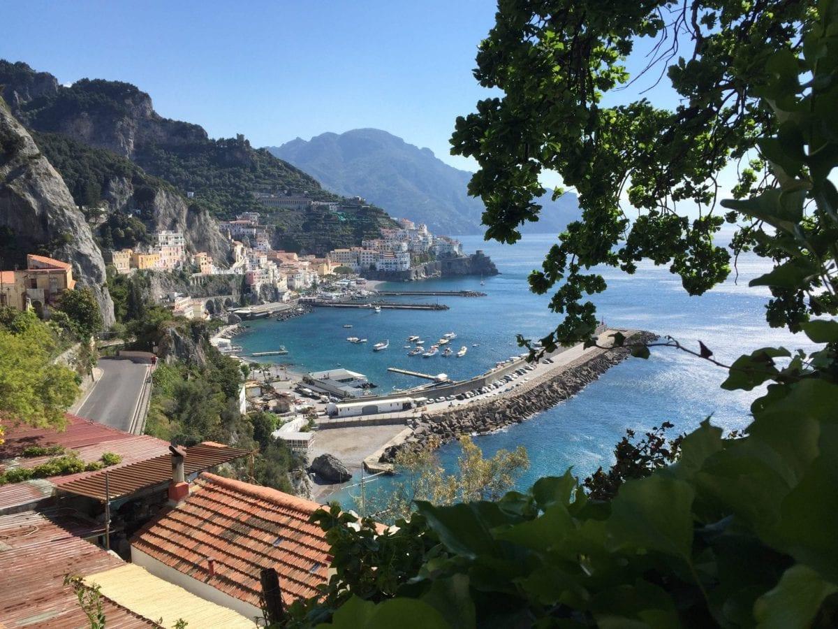 Hiking The Amalfi Coast Between Amalfi And Sorrento Italy