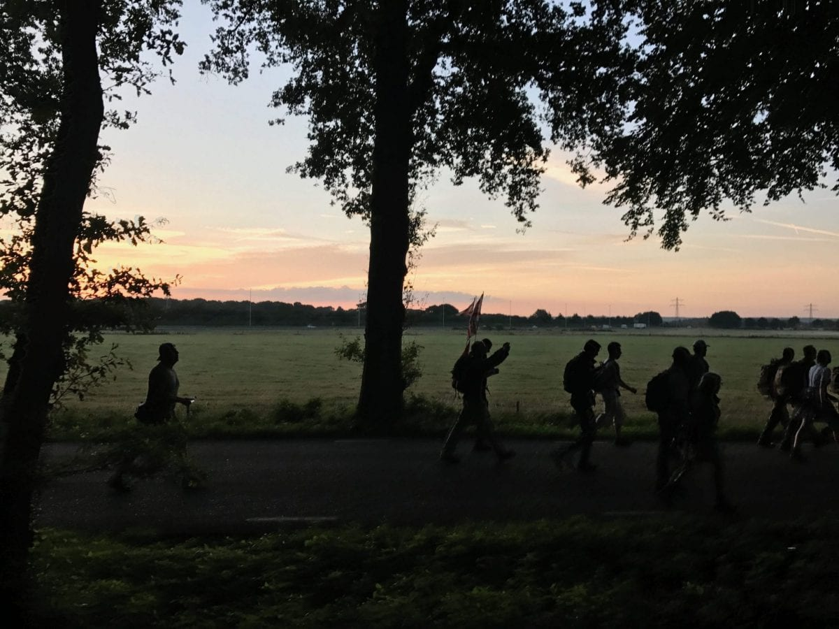 Early morning - silhouettes at the Four Days Marches