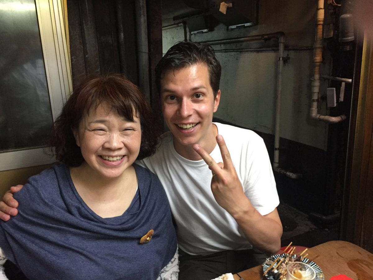 Dinner with the amazing Chieko Ogawa in Tokyo