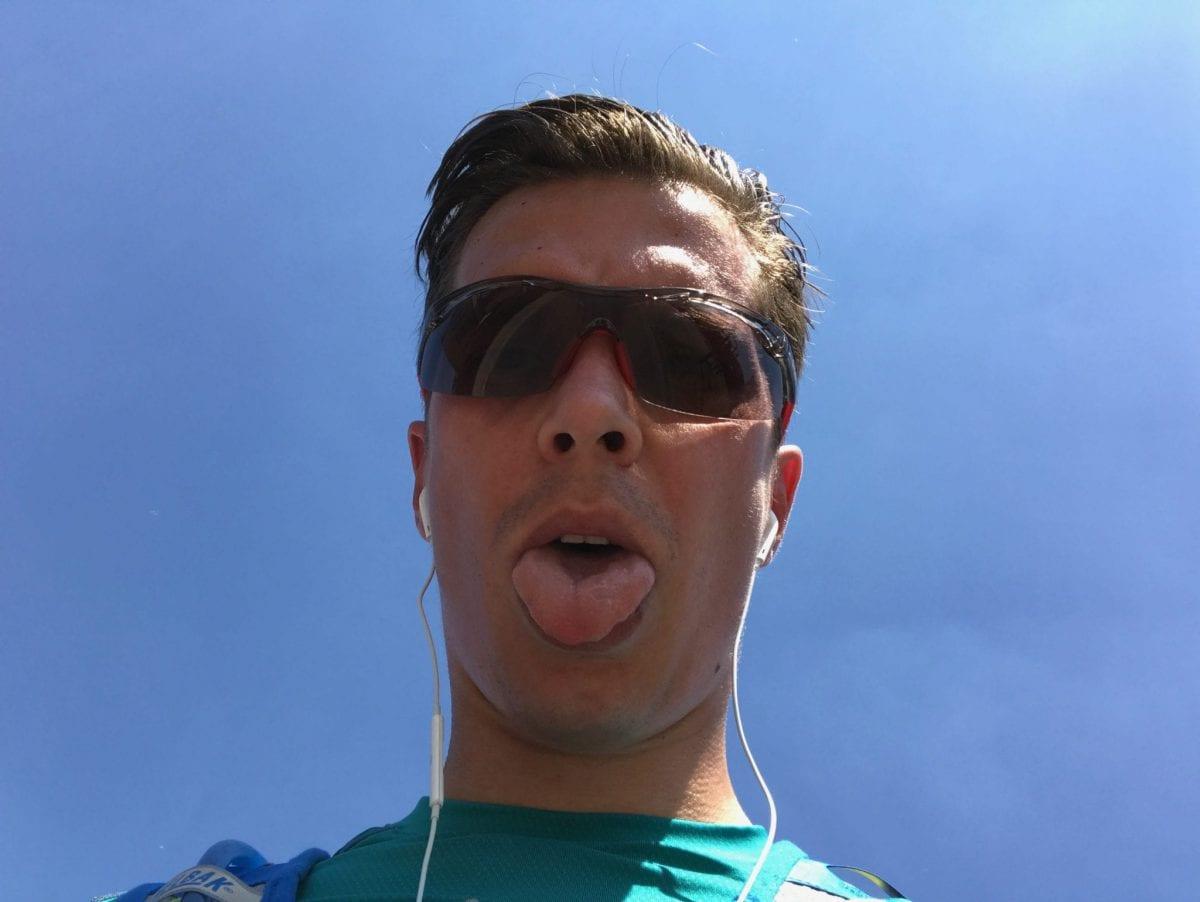 Running in the Bratislava heat