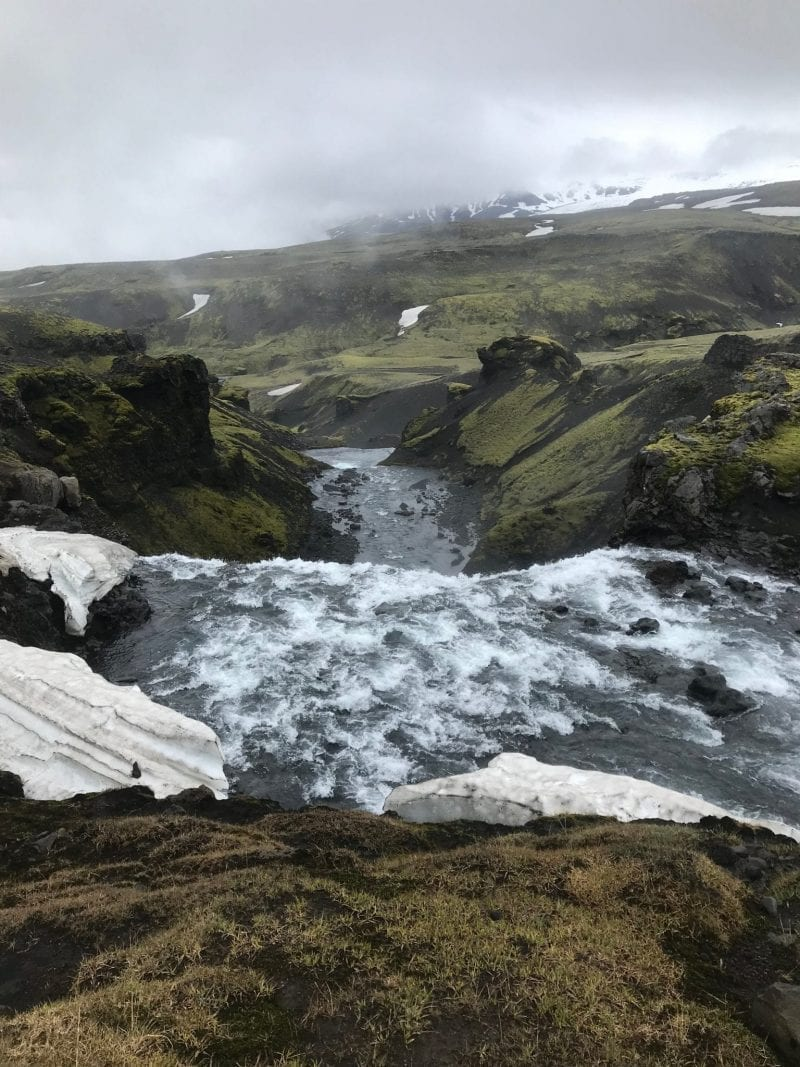 One of the impressive waterfalls towards Skogar