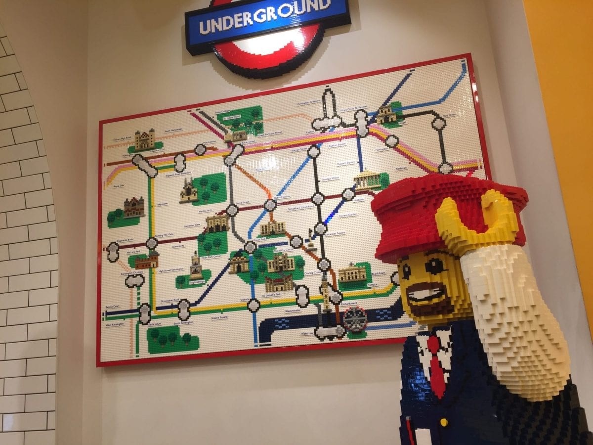 London Underground in the London LEGO flagship store