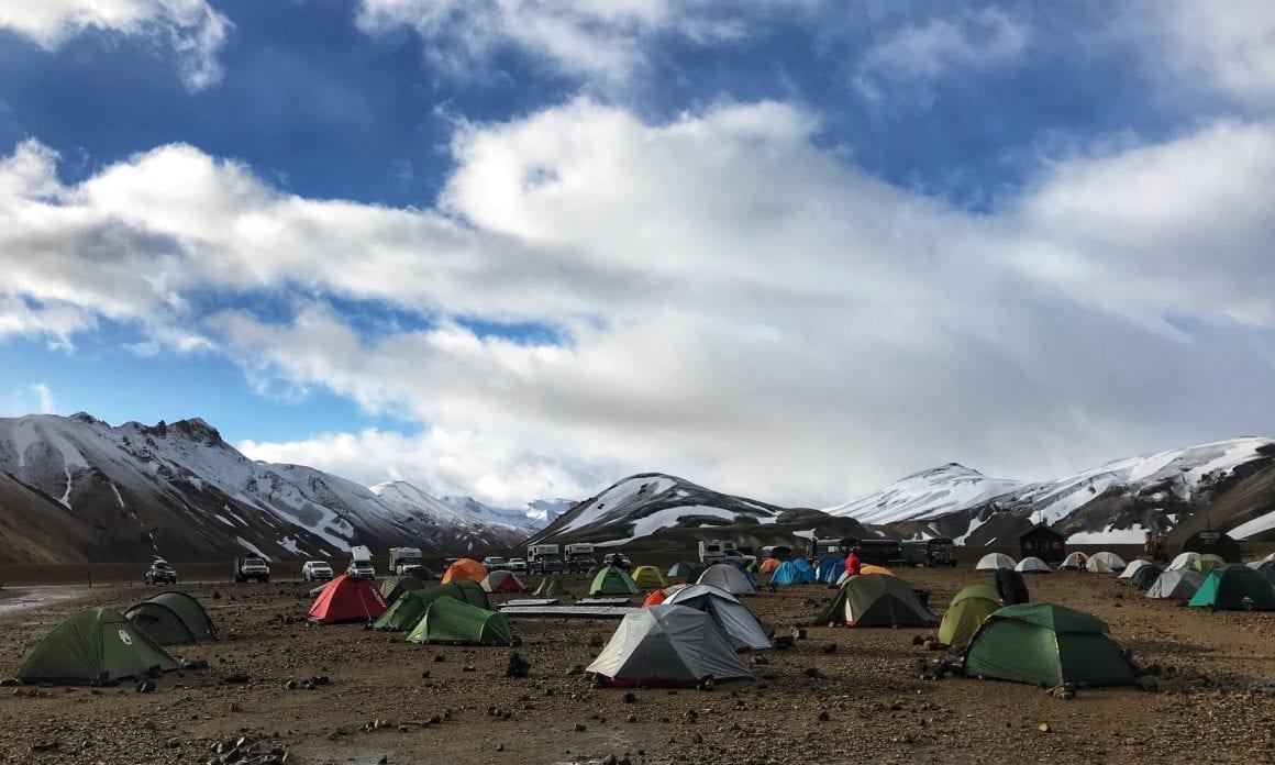 Camping at Landmannalaugar