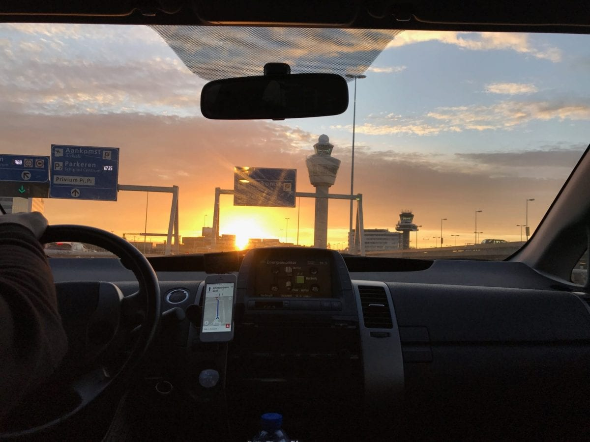 Sunset at Schiphol Airport