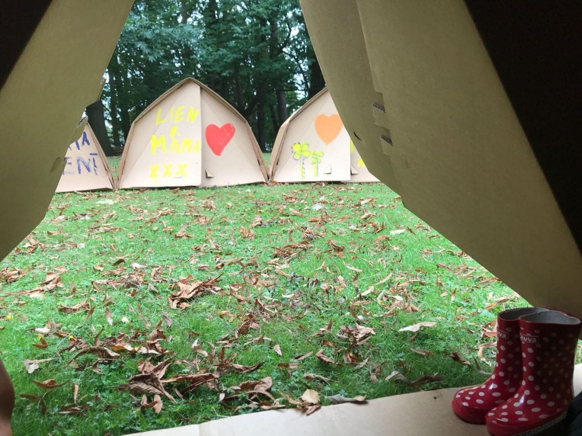 Wonderweekend - our view from inside the tent