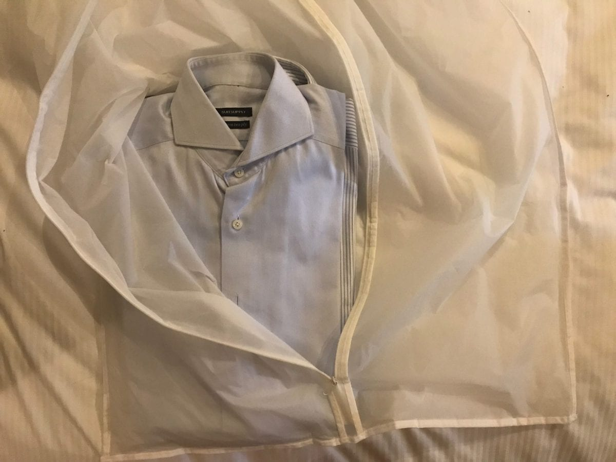 Wrinkle free shirt: packing 2-5 shirts