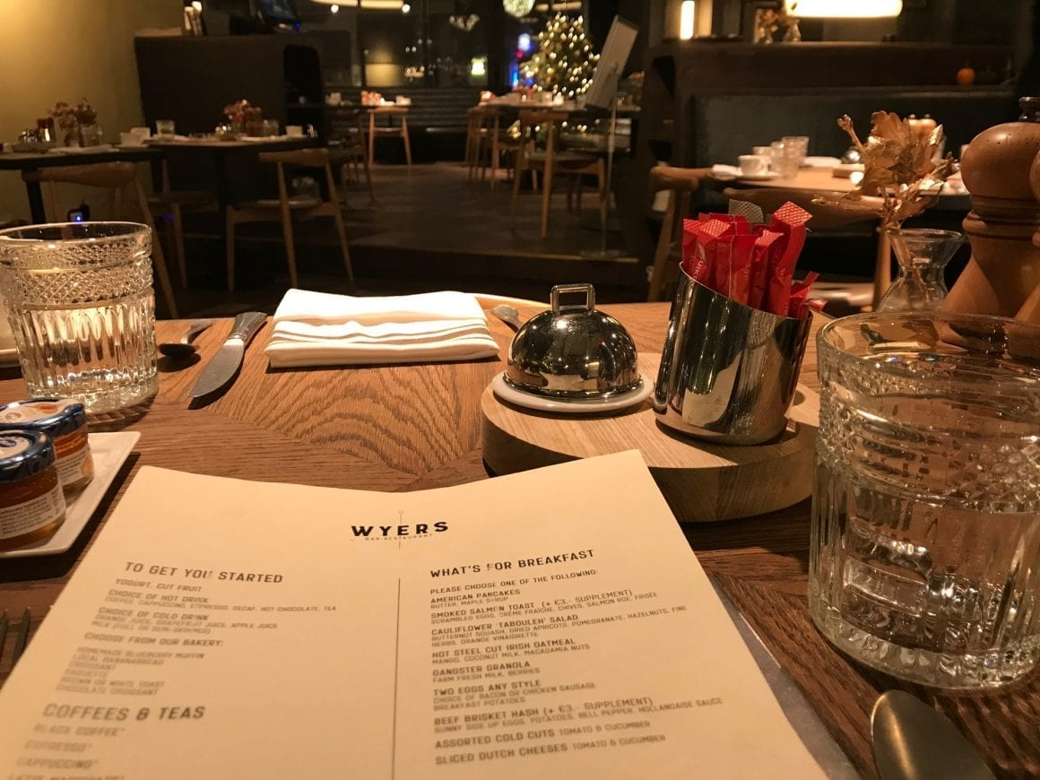 Breakfast a la carte at Wyers in Kimpton DeWitt Amsterdam