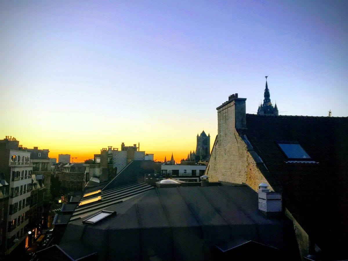 Rooftop view in Gent