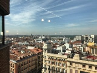 View from El Corte Ingles in Madrid