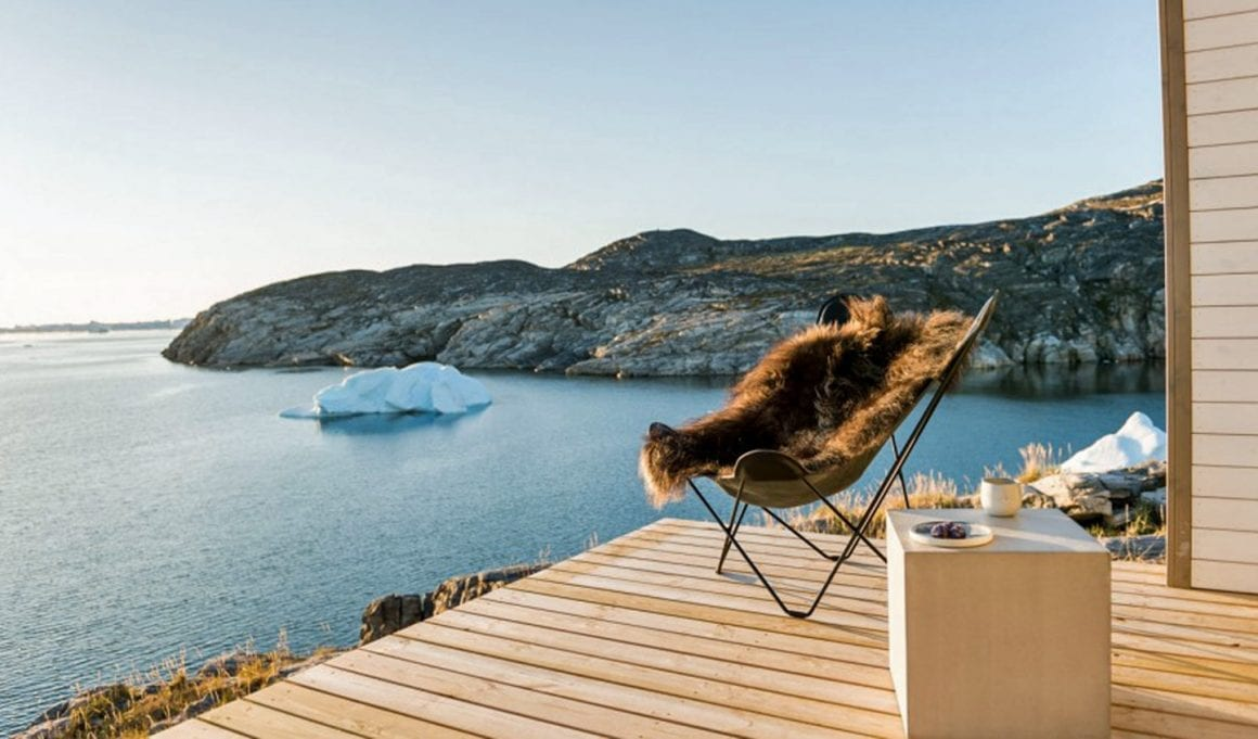 Hopefully waking up like this at the terrace at IIimanaq lodge