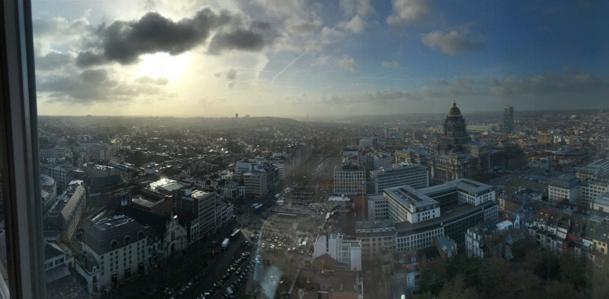 View over Brussels from The Hotel Brussels