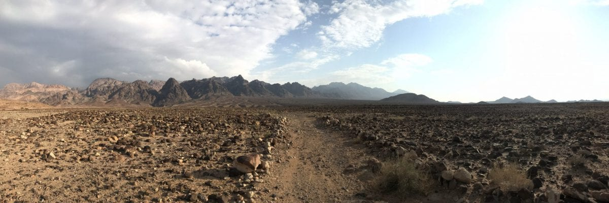 On my way on the Jordan Trail