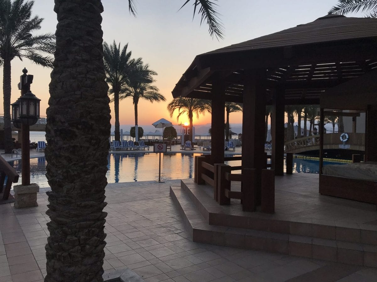 Sunset at the InterContinental Aqaba (Resort Aqaba)