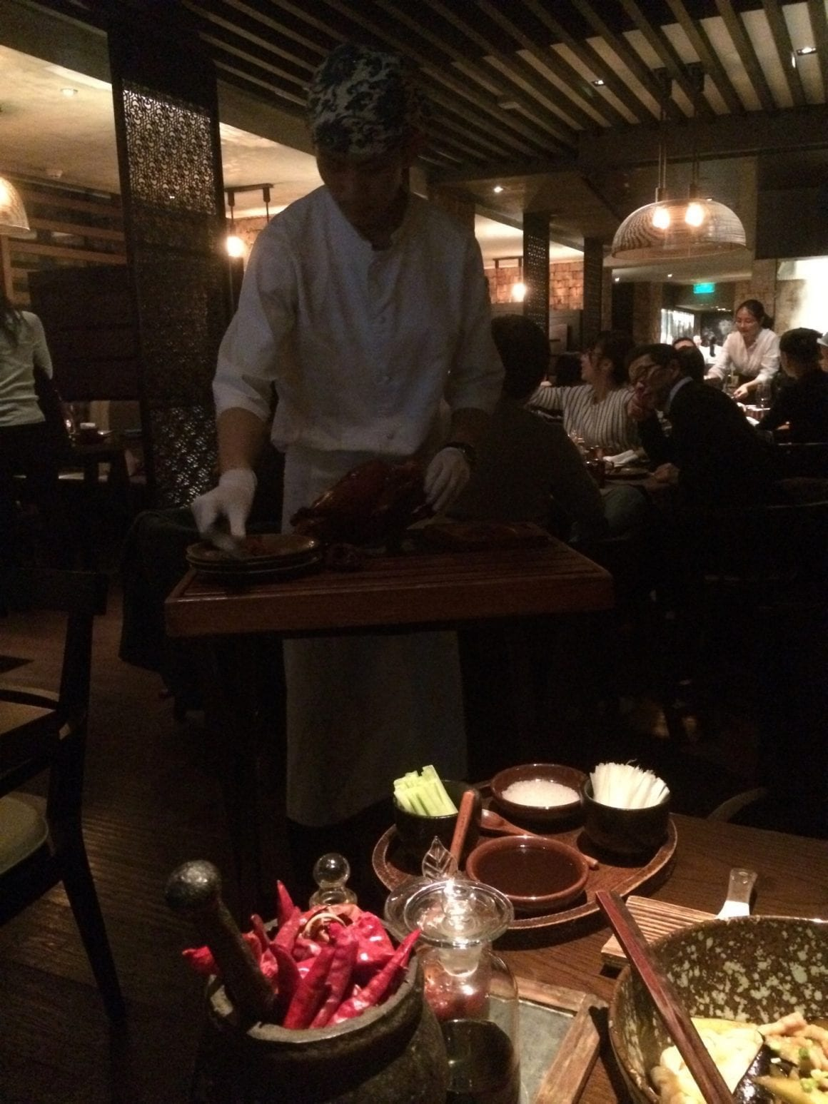 Country Kitchen - Peking Duck at the table
