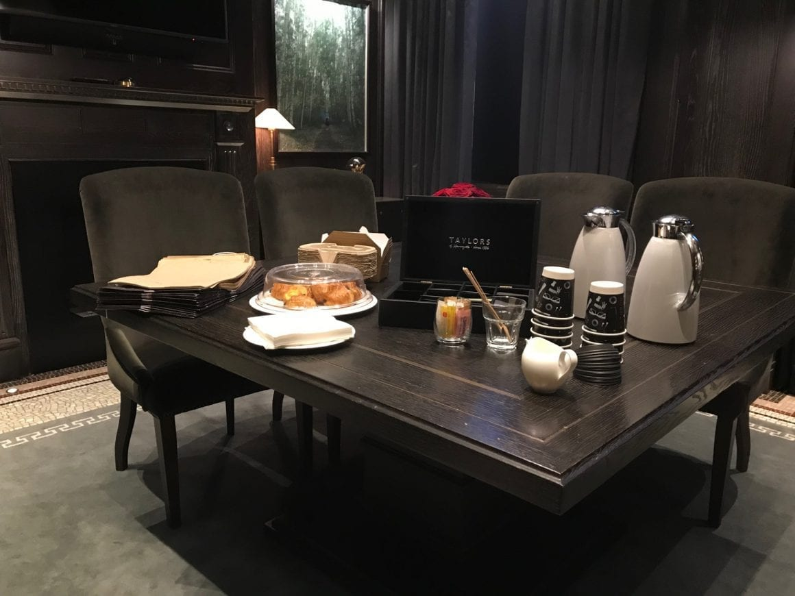Breakfast table for early risers at Kimpton Fitzroy