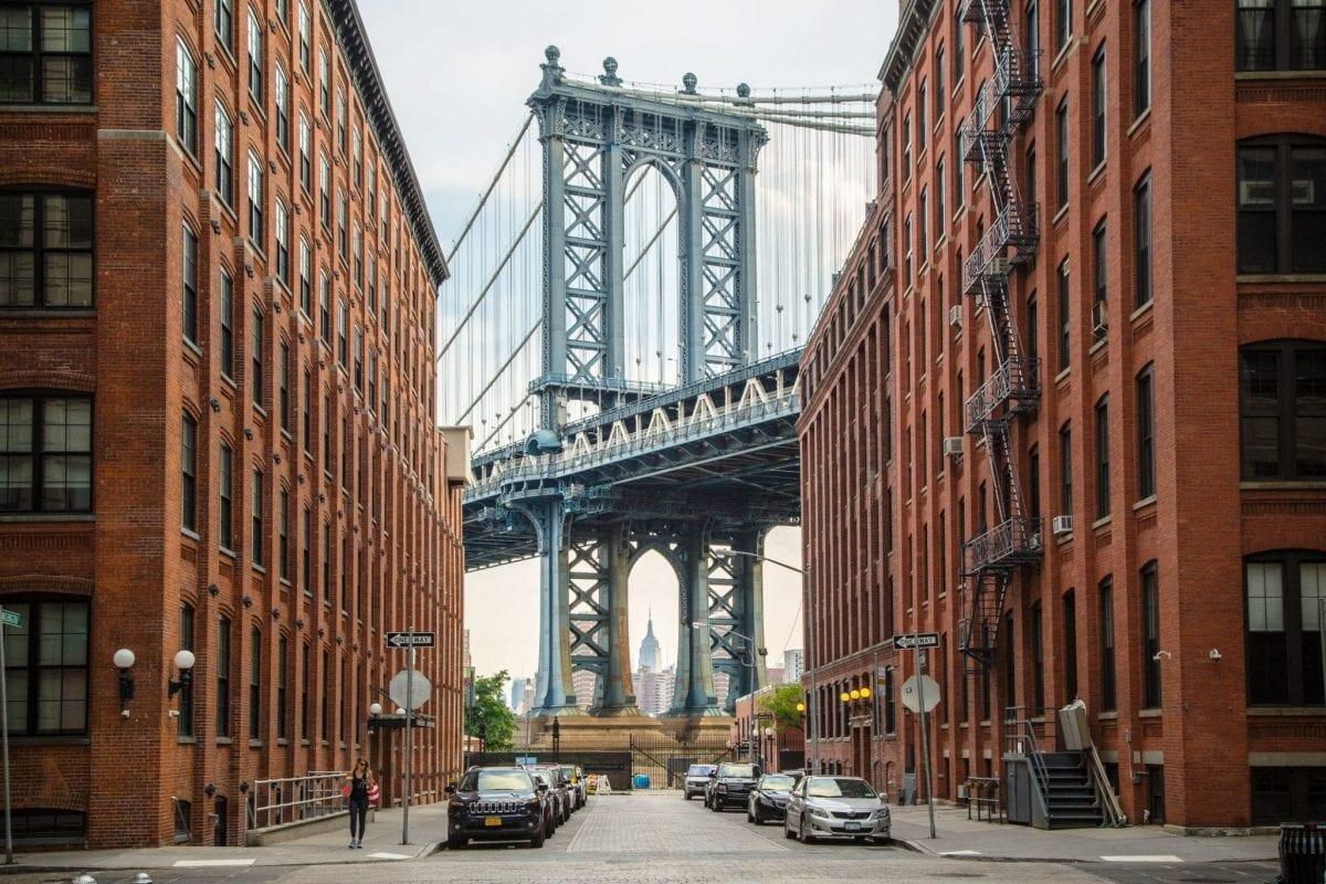 Dumbo bridge in Brooklyn
