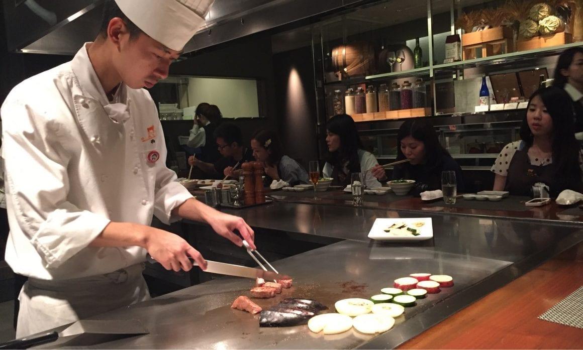 Kobe beef preparations at Kobe Plaisir