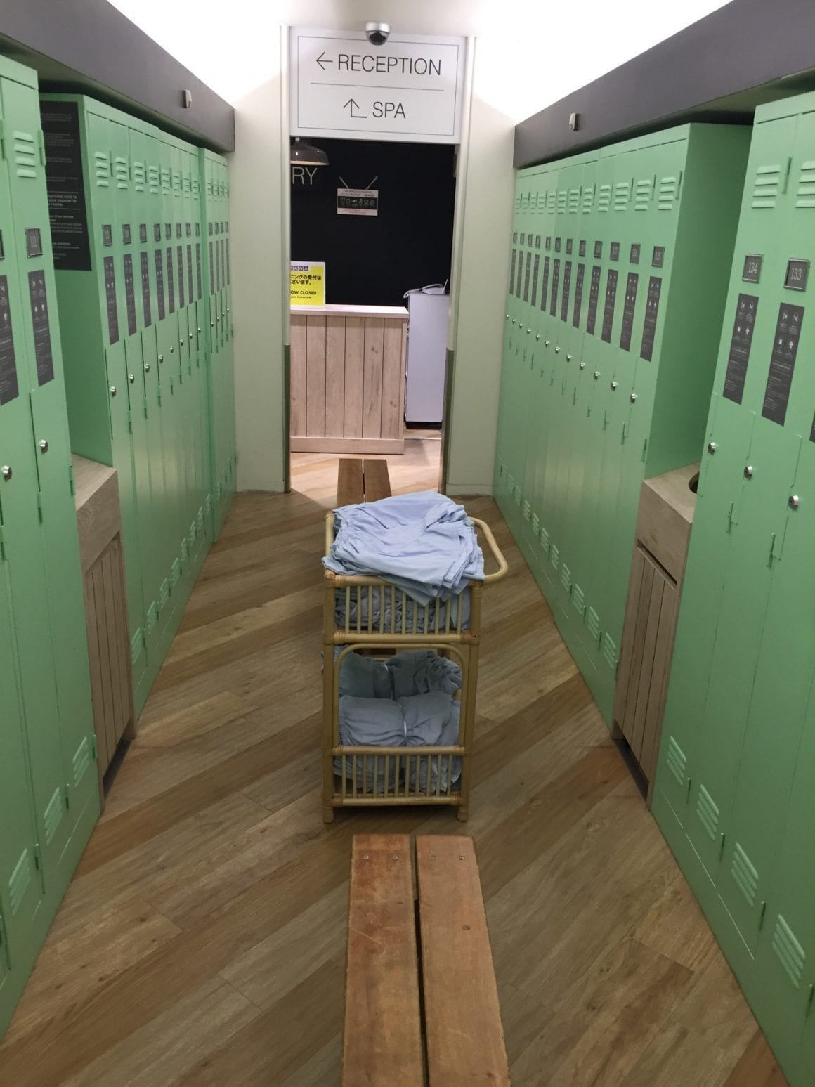 New Japan Capsule Hotel in Osaka Lockers