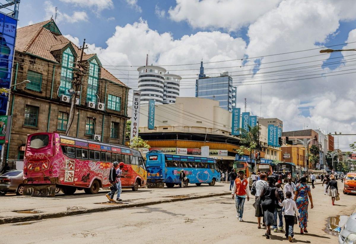 Street scene in Nairobi.