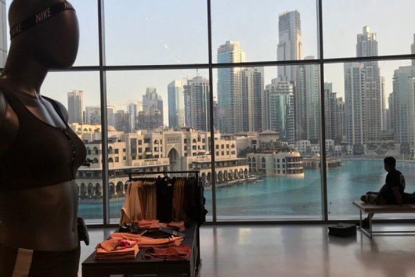 Dubai Mall nike store view