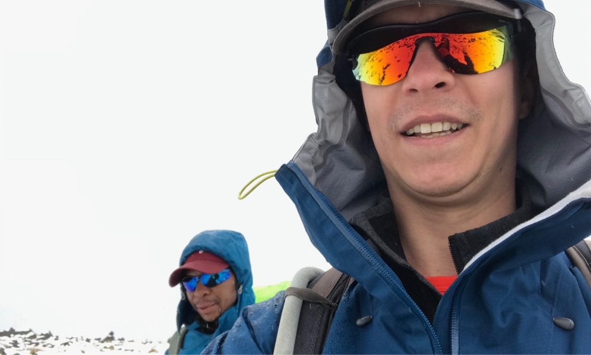 Hiking with guide Nico