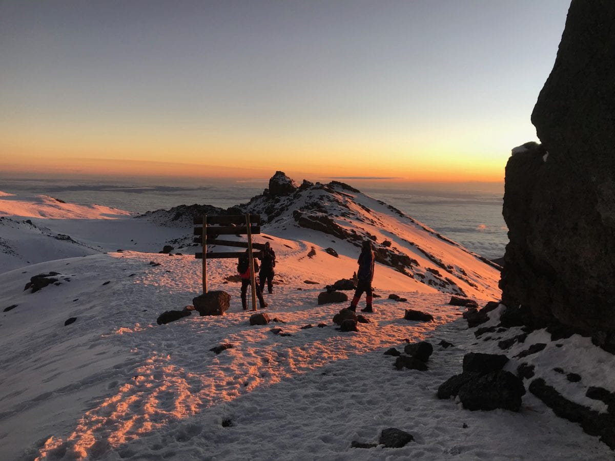 Stella point on Mt Kilimanjaro