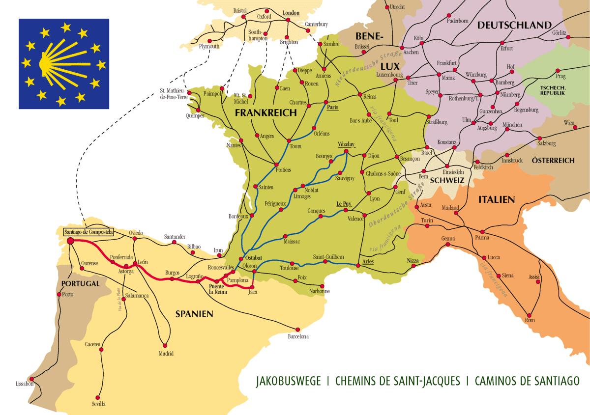 Camino de Santiago in Europe