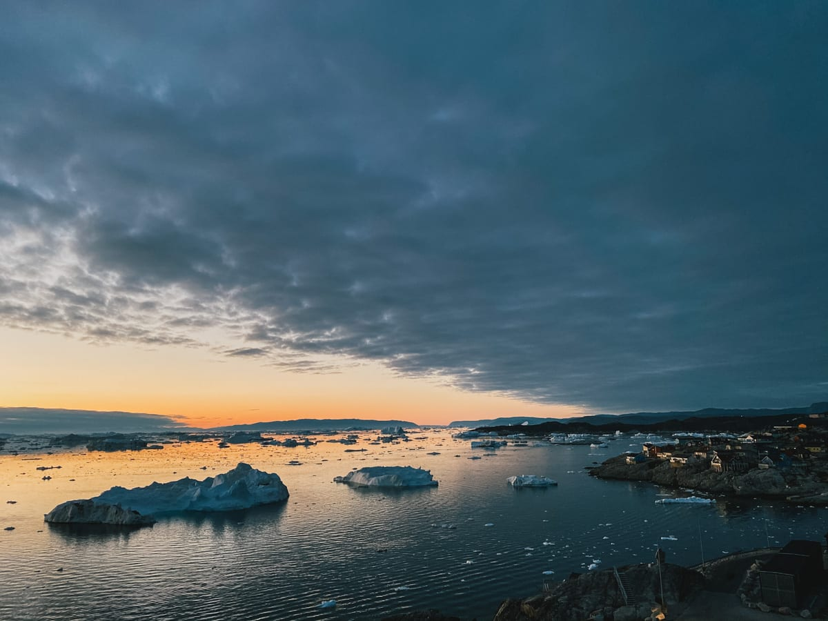 Looking over Ilulissat's bay